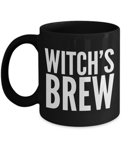 Witch Brew - Witch's Brew - Witches Brew Coffee Mug - Good Witch Gift - Black Mug-Cute But Rude