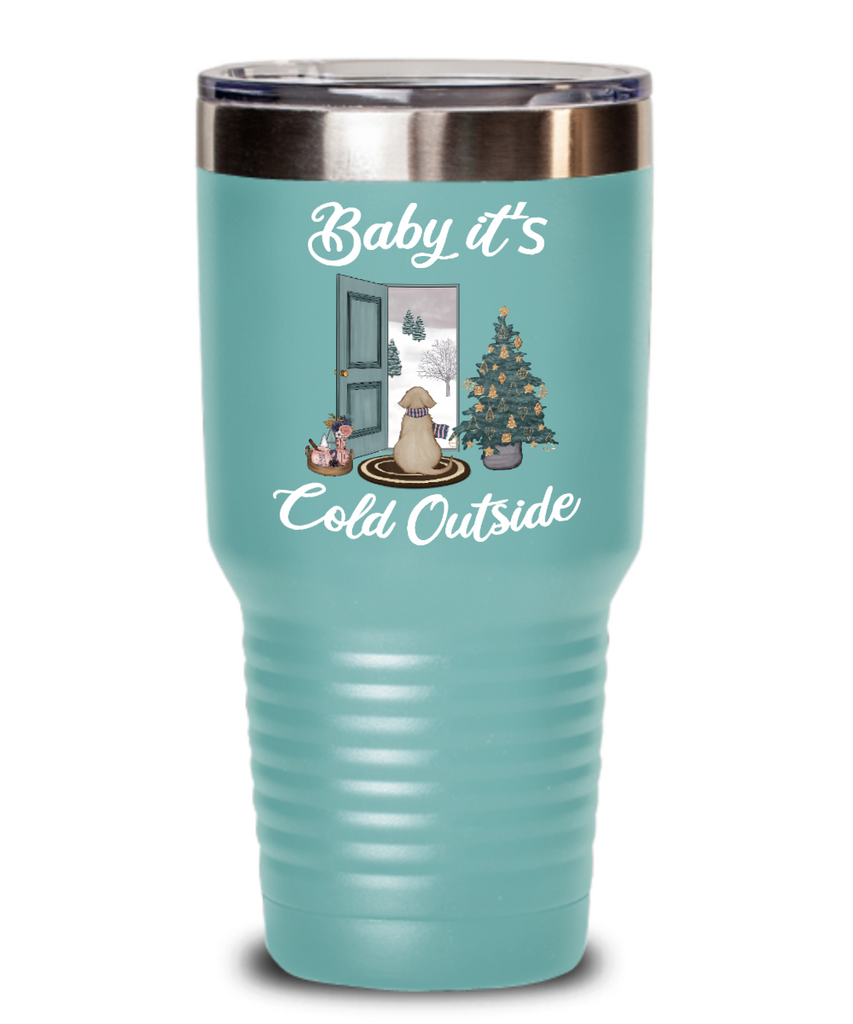 Baby It S Cold Outside Tumbler Christmas Mug Gift Cute Winter Scene Mu Cute But Rude
