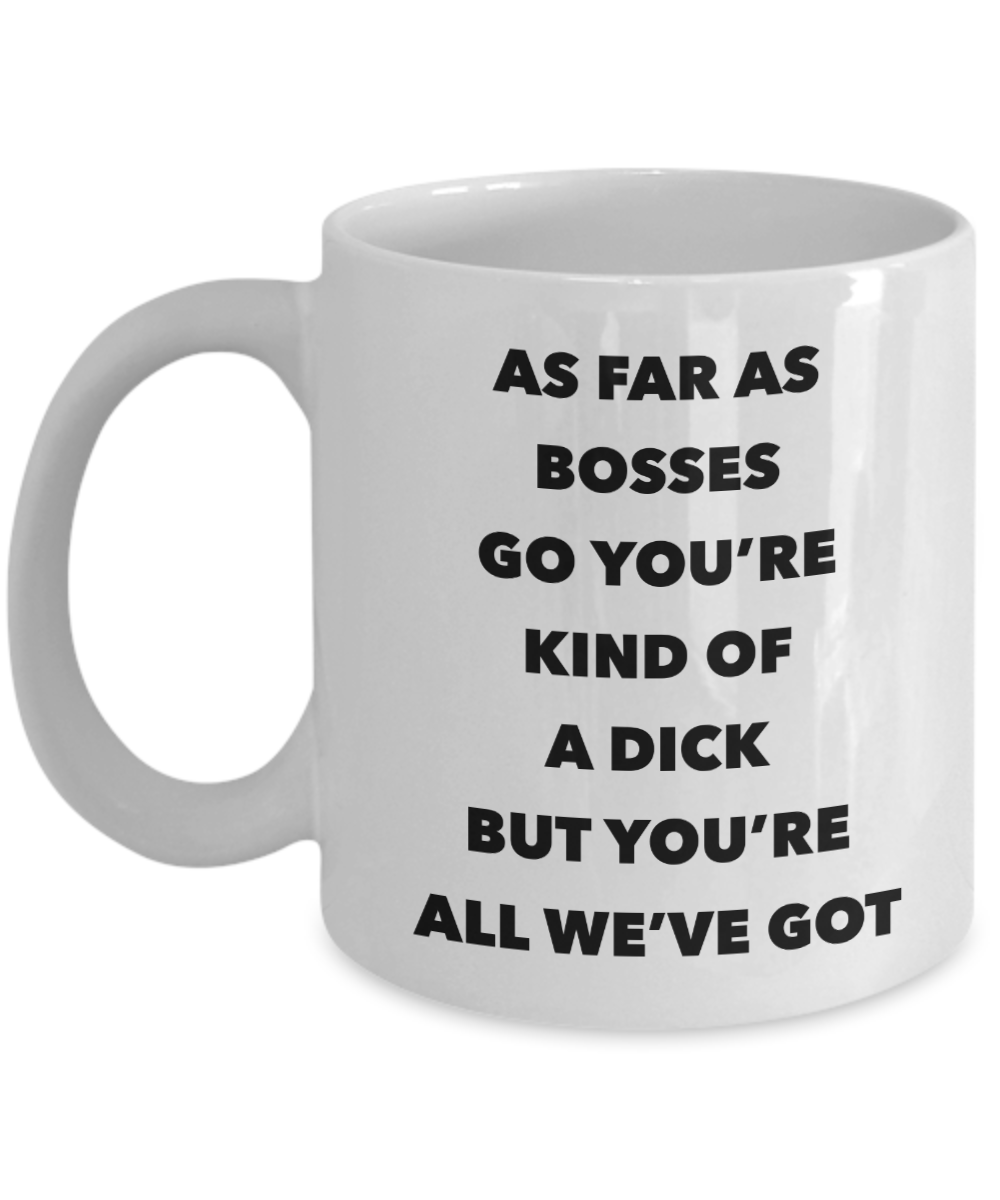 Funny Boss Gifts for Bosses Gag Gift Mug Ceramic Coffee Mug