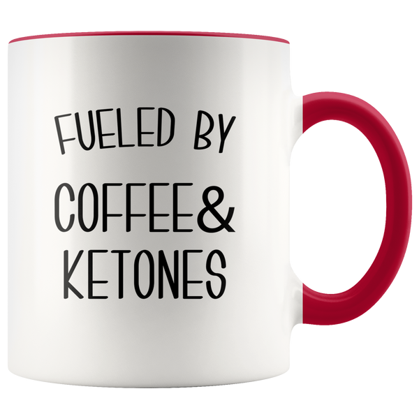 Fueled By Coffee and Ketones Mug Keto Cup Funny Weight Loss Humor Gift
