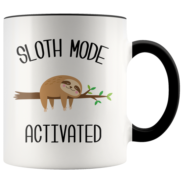 Sloth Mode Activated Mug Cute Sloths Lover Gift Coffee Cup Introvert Gift