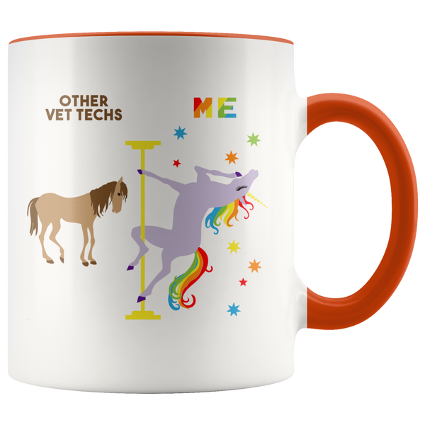 Veterinary Technician Gift for Vet Tech Mug Funny Veterinary Tech Retirement Gift Graduation Gift Idea Coffee Cup Pole Dancing Unicorn