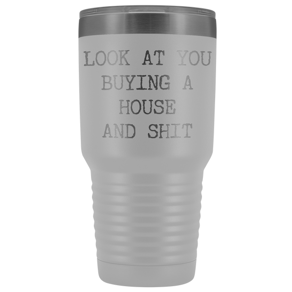 Housewarming Gift New Home Owner First Time Home Buyer New House Tumbler Mug Insulated Hot Cold Travel Coffee Cup 30oz BPA Free