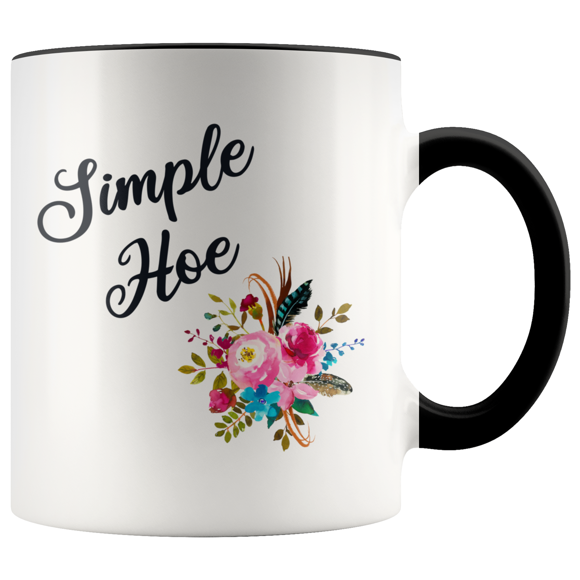 Simple Hoe Mug Funny Floral Coffee Cup Rude Gag Gift Idea Crass Insulting Best Friend Birthday Gifts