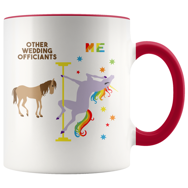Funny Wedding Officiant Gift for a Wedding Officiant Mug Officiant Proposal Gift Pole Dancing Unicorn Coffee Cup