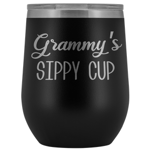 Grammy's Sippy Cup Grammy Wine Tumbler Gifts Funny Stemless Stainless Steel Insulated Tumblers Hot Cold BPA Free 12oz Travel Cup