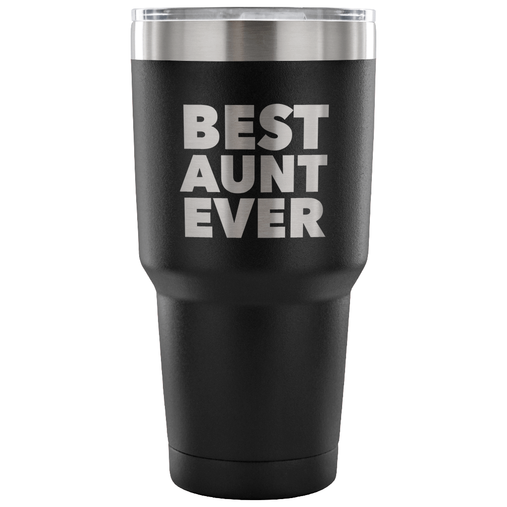 Best Aunt Ever Tumbler Great Gifts for New Aunts Funny Double Wall Vacuum Insulated Hot & Cold Travel Cup 30oz BPA Free