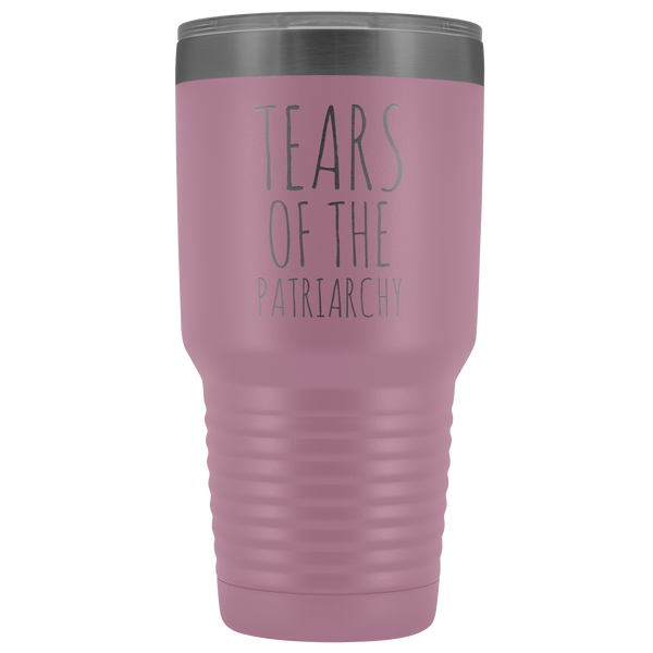 Tears of the Patriarchy Tumbler Funny Feminist Mug Insulated Hot Cold Travel Coffee Cup 30oz BPA Free