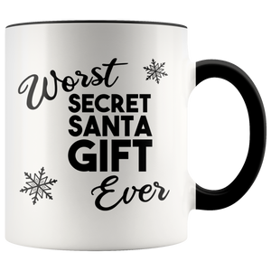 Worst Secret Santa Gift Ever Mug Funny Christmas Gift Exchange Idea Under $20 White Elephant Coffee Cup Holiday Mugs with Sayings Coworker Gifts