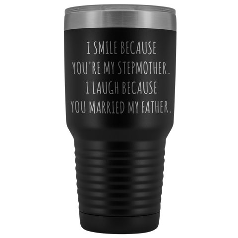Stepmom Mug Step Mom Gifts Stepmother Gift for Step-Mom Present for Stepparent Mother's Day Funny Tumbler Insulated Hot Cold Travel Coffee Cup 30oz BPA Free