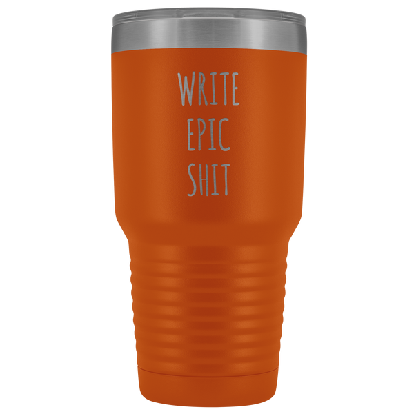 Funny Gifts for Writers Author Tumbler Insulated Hot Cold Travel Coffee Cup 30oz BPA Free