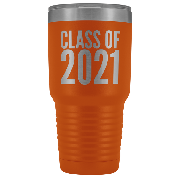 Class of 2021 Graduation Tumbler Gift for Graduate Metal Mug Insulated Hot Cold Travel Coffee Cup 30oz BPA Free