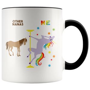 Nana Gift for Nanas Mug Christmas Gift for Grandma Gift for Grandma Gift for Grandmother Gift Grandma Coffee Cup Pole Dancing Unicorn