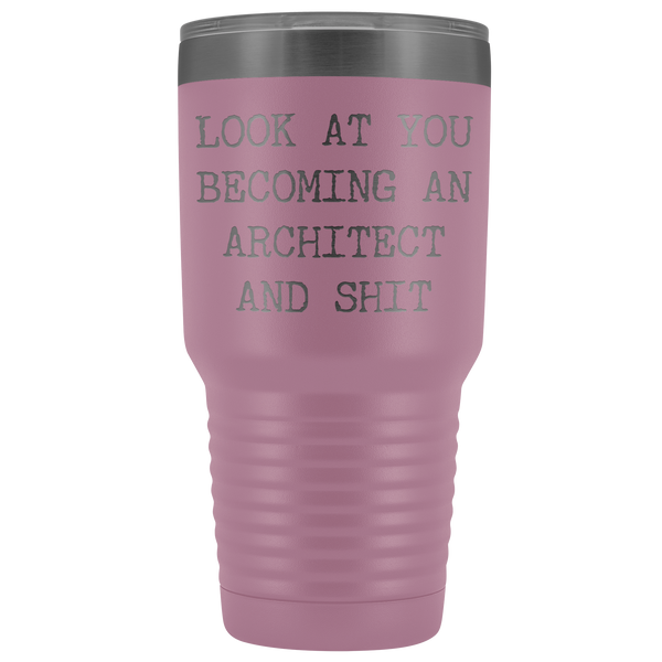 Architect Graduation Gifts For Men Women Architect Graduate New Architect Gift Aspiring Architect Tumbler Metal Mug Insulated Hot/Cold Travel Coffee Cup 30oz BPA Free