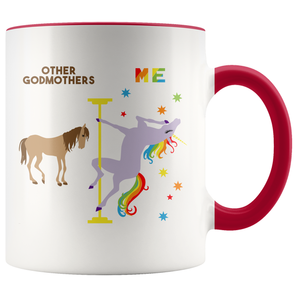 Funny Godmother Gift Best Godmother Mug Godmother Birthday Gift Pole Dancing Unicorn Godmothers Coffee Cup