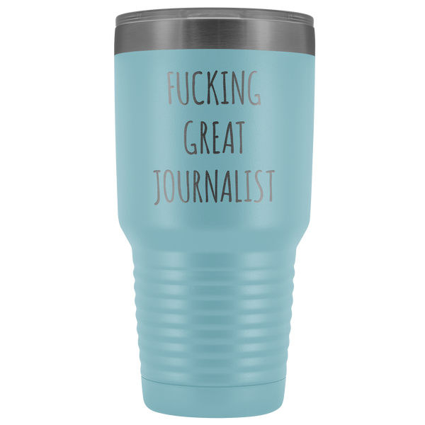 Journalism Major Gifts Great Journalist Tumbler Funny Mug Insulated Hot Cold Travel Coffee Cup 30oz BPA Free