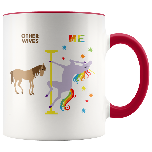 Pole Dancing Unicorn Gift for Wife Mug Anniversary Gifts for Wife Gift for Her Gift for Women Christmas Gifts for Wife Cotton Anniversary Gift Gay Pride