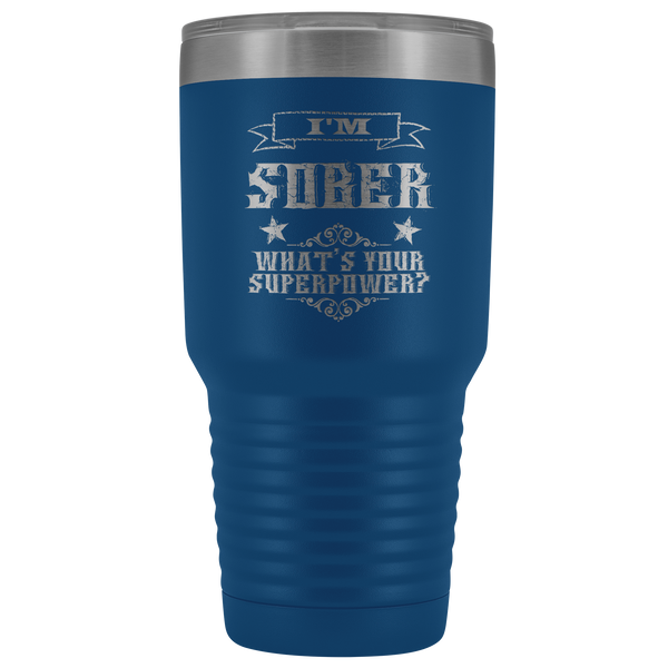 Sobriety Gift for Him for Her Sponsor Mug Sober Anniversary I'm Sober Tumbler Insulated Travel Coffee Cup 30oz BPA Free