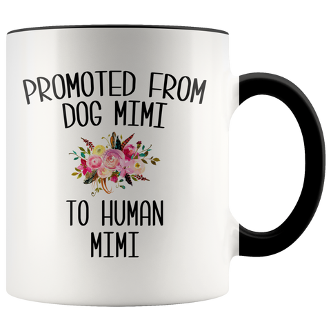 Promoted From Dog Mimi To Human Mimi Coffee Mug Pregnancy Announcement Cup Baby Reveal Gift for Her