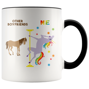 Funny Boyfriend Gift Boyfriend Mug Best Boyfriend Ever Birthday Present Coffee Cup Pole Dancing Rainbow Unicorn