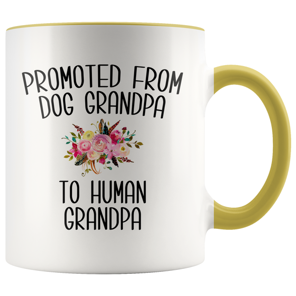 Promoted From Dog Grandpa To Human Grandpa Mug Grandpa Pregnancy Announcement Reveal Gift Father in Law Gift for Him