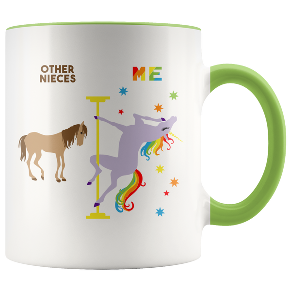 Niece Mug Gift for Niece from Aunt and Uncle Gift for Niece Birthday Gifts for Her Niece Gifts for Women Cute Unicorn Coffee Cup Pole Dancing Unicorn