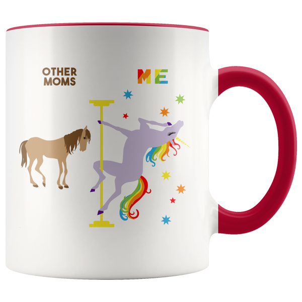 Pole Dancing Unicorn Mug Mom Mug Christmas Gift from Daughter Mom Gifts for Mom Gifts from Son Gift from Husband Gift from Kids Mom Coffee Cup Mother's Day Present