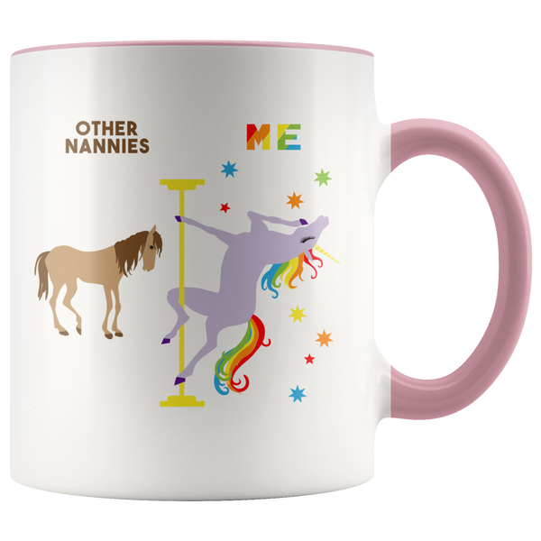 Nanny Mug Nanny Thank You Gift for Nanny Birthday Present Funny Coffee Cup for Nannies Pole Dancing Unicorn Mug