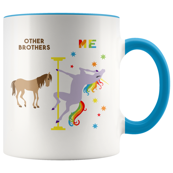 Funny Brother Gift Brother Mug Best Brother Ever Birthday Coffee Cup Pole Dancing Unicorn