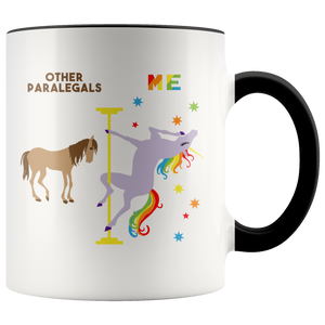 Paralegal Mug Funny Paralegal Gift Paralegal Thank You Graduation Birthday Gift Coffee Cup Pole Dancing Unicorn