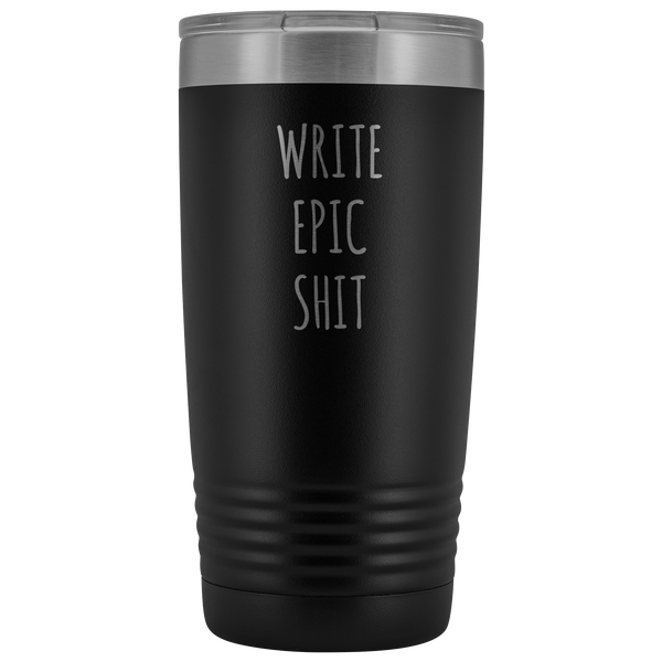 Funny Gifts for Writers Author Tumbler Insulated Hot Cold Travel Coffee Cup 20oz BPA Free