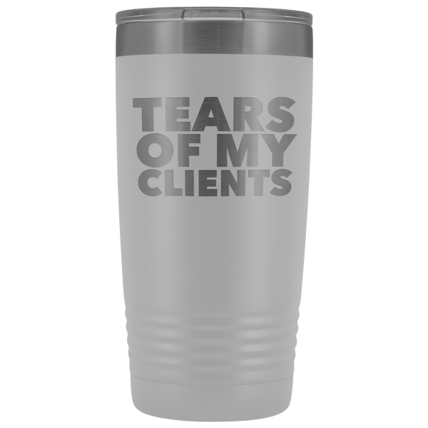 Personal Trainer Tax Preparer Gift Funny Lawyer Gag Gifts Tears Of My Clients Tumbler Metal Mug Insulated Hot Cold Travel Coffee Cup 20oz BPA Free