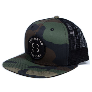 "Saltwater Society Camo'New Era 9FIFTY Mesh Snapback"" Member Patch Hat"
