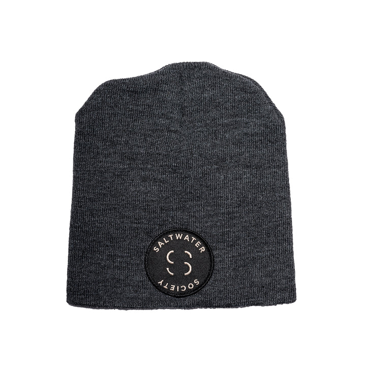 "Saltwater Society  ""Member Patch""  GRAY BEANIE"