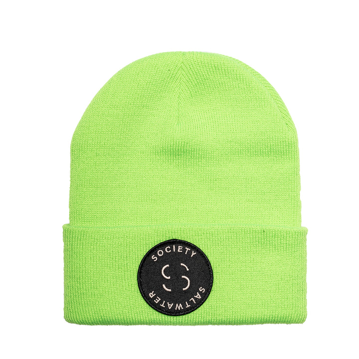 "Saltwater Society  ""Member Patch""  NEON GREEN BEANIE"