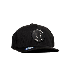 "Saltwater Society  ""Member Patch""  BLACK FLEXFIT ""COOL & DRY"" SIZED SNAPBACK HAT"