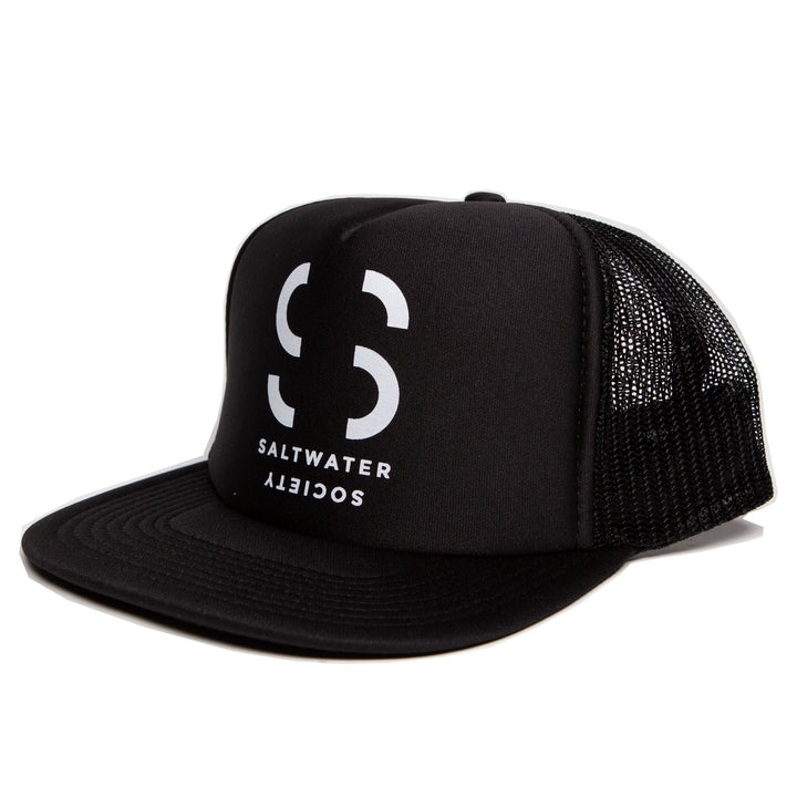 Saltwater Society Black Foam Trucker Hat