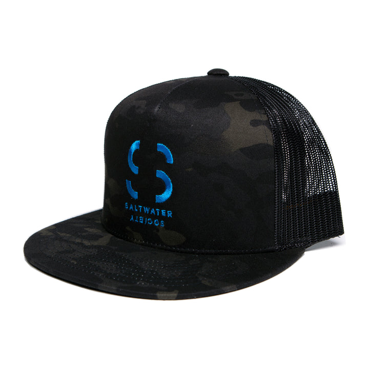 Saltwater Society Yupoong Multi/Camo Embroidered Logo Hat