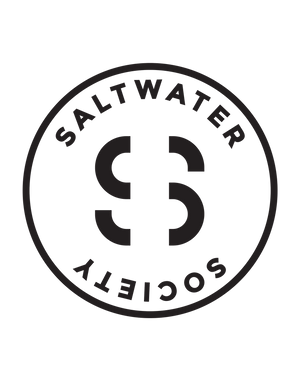 SALTWATER SOCIETY STICKER 6""