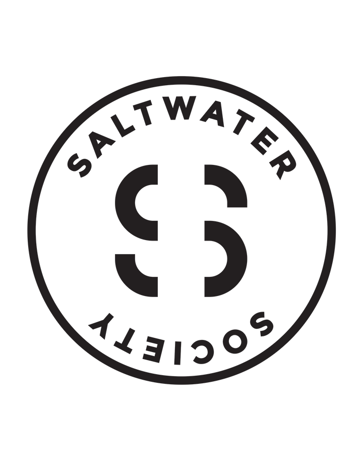 SALTWATER SOCIETY STICKER 11""