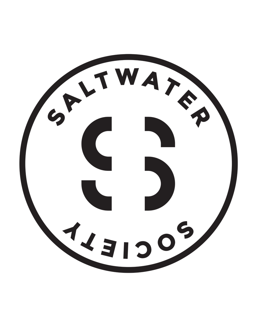 SALTWATER SOCIETY STICKER 7""