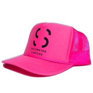 Saltwater Society Pink  Foam Trucker Hat