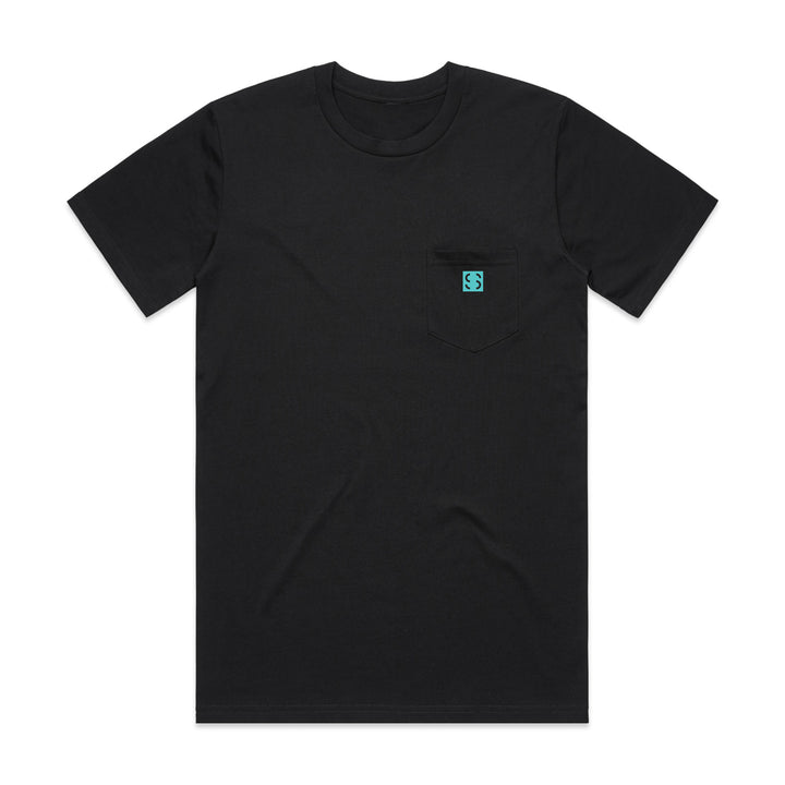 SALTWATER SOCIETY SQUARE LOGO Pocket T-Shirt