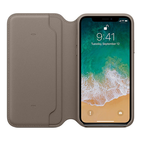 Apple Leather Folio Case for iPhone X