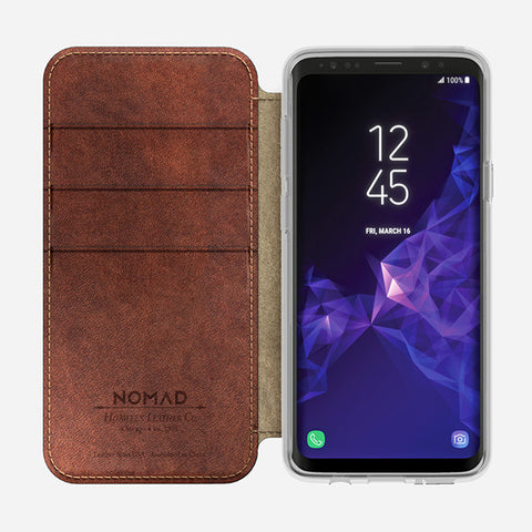 Nomad Clear Folio Case for Samsung S9