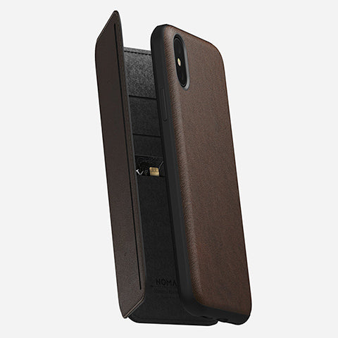 Nomad Rugged Tri-Folio Case for iPhone XS