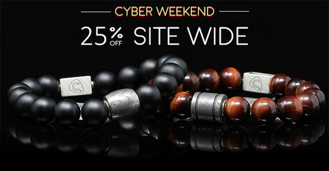The Cadence Company | Handmade Men's Beaded Bracelets | Sterling Silver Jewelry | Men's Leather Bracelets