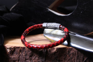 Bracelet | ClefStar Largo | Red Python | Leather Bracelets | Exotic
