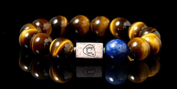 G Clef | Men's Bracelet - The Cadence Company | Sterling Silver, Exotic Leathers & Rare Stones | Rugged Refined | Men's Beaded Bracelets | Men's Leather Bracelets | Handmade Bracelets | Yellow Tiger Eye