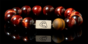 Marcato | Men's Bracelet - The Cadence Company | Sterling Silver, Exotic Leathers & Rare Stones | Rugged Refined | Men's Beaded Bracelets | Men's Leather Bracelets | Handmade Bracelets | Red Tiger Eye